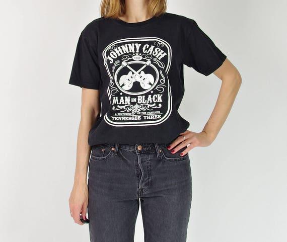 Johnny Cash Man in Black t-shirt / size S-M-L