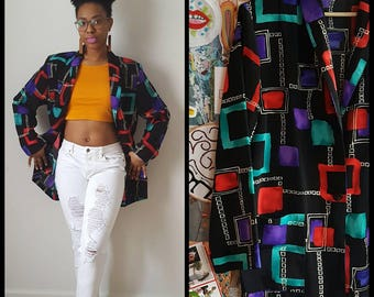 Vintage 80s/90s blazer/oversize blazer/geometric print