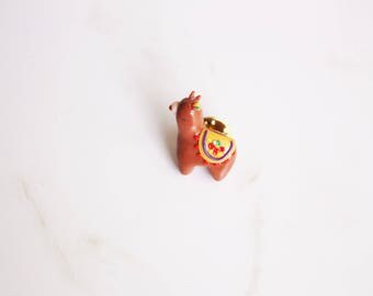 Brown Alpaca Pin