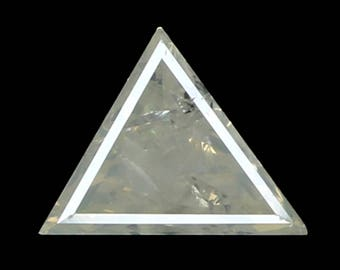 0.35 Ct Natural Loose Diamond Triangle Gray Milky Color 6.40X5.00X2.00 MM K3113