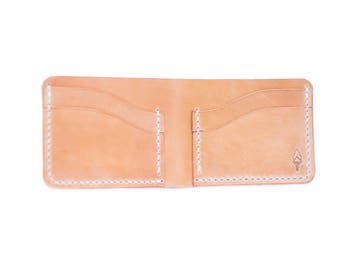 Bifold in Russet Harness Leather - Legacy Brand Leather hand-stitched