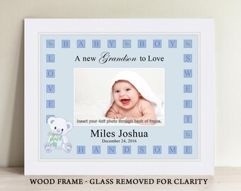 Baby picture frames etsy personalized baby boy picture frame baby gift personalized baby picture frame negle Choice Image