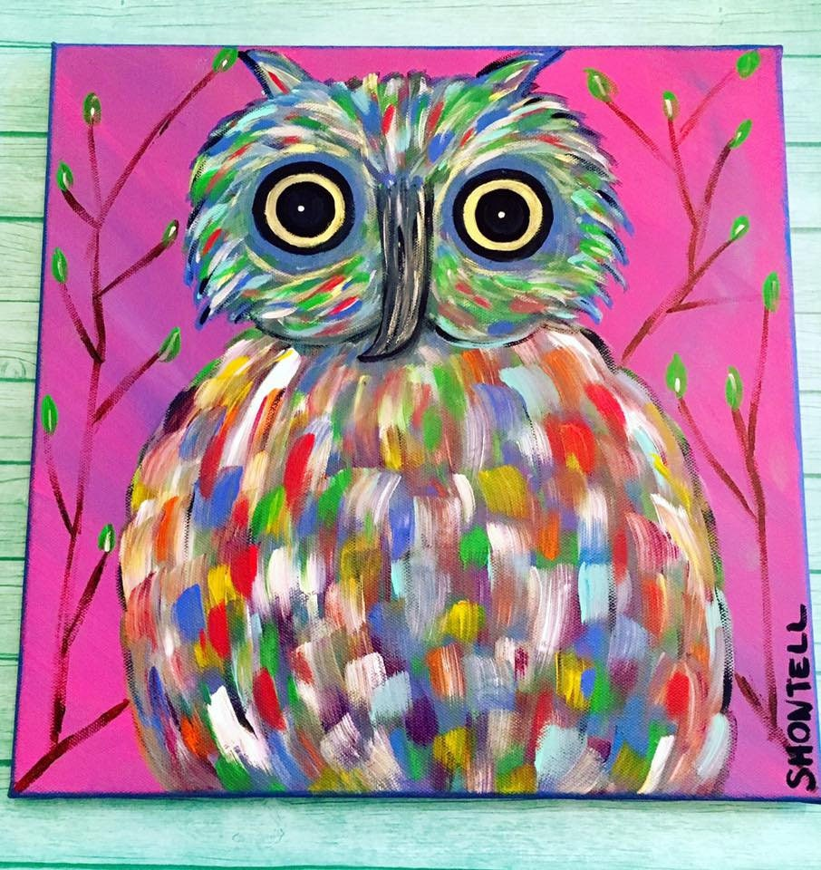 Owl Owl Décor Owl Painting Abstract Painting Abstract