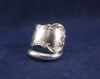 "Spoon Ring 1894 ""Flemish"" Handmade Spoon Jewelry Size 8 FREE SHIPPING"