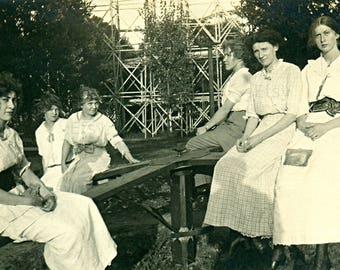 Instant Download Estimated 1910s vintage photo picture of women family friends Printable Vintage art print
