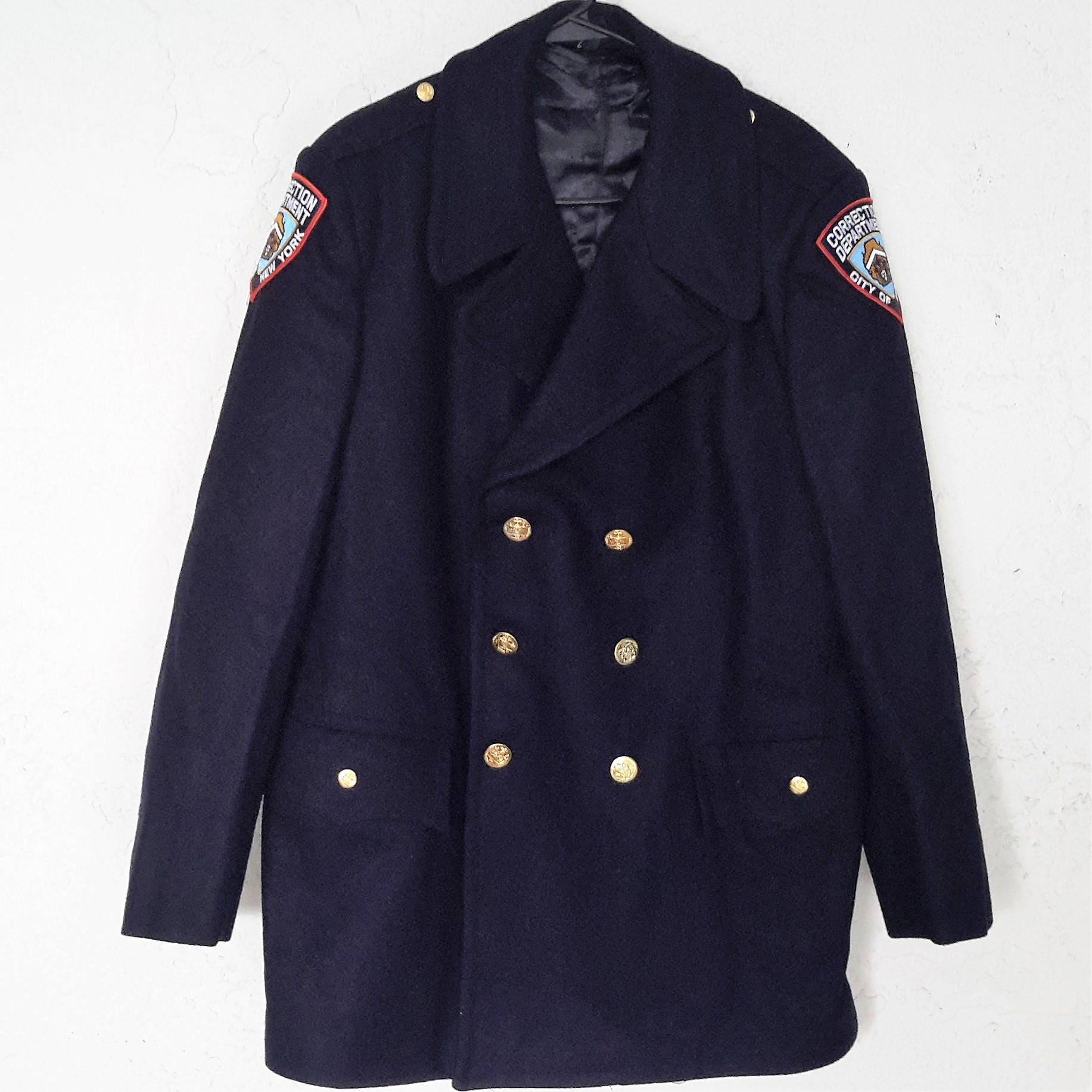 vintage new york city correction dept uniform winter coat