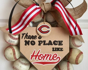 Cincinnati Reds Baseball Wreath