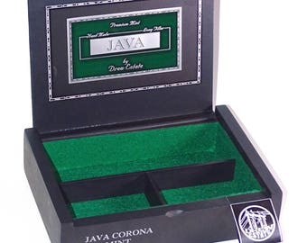 Unique Jewelry, Stash or Man Box built from a very nice Java Mint Cigar Box