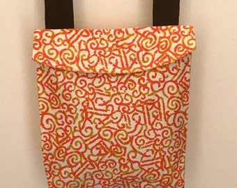 Fancy orange cotton purse