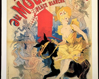 Moulin Rouge Poster Paris Can Can Burlesque Print Wall Art