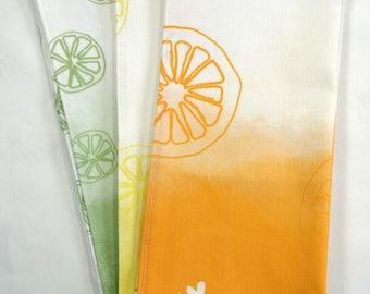 Original Citrus Tea Towel Collection - Orange, Lemon, Lime