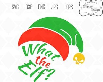 What the elf, elf clipart, elf hat svg, elf svg, christmas svg, printable, christmas clipart, vector, silhouette, cricut cut files