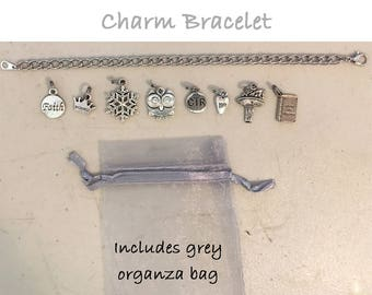 Personal Progress Charm Bracelet - eight (8) charms with bracelet YW Values