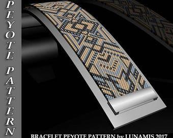 Peyote bracelet pattern, odd count, peyote pattern, stitch pattern, pdf file, pdf pattern, #027P