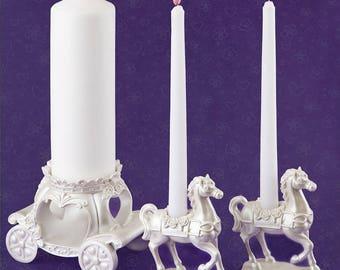 Elegant Fairytale 3 Piece Unity Candle Set -  Wedding Ceremony FC2512