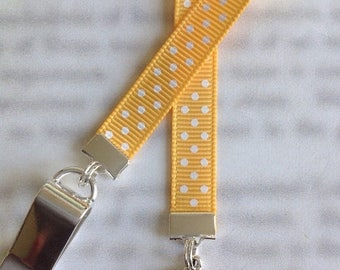 ON SALE Sun Bookmark / Sun Lover Bookmark / Sun Face Bookmark - Clip to book cover then mark the page with the ribbon. Never lose your bookm