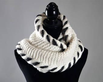 White Scarf,Winter Scarf,Warm Scarf,Grey Scarf, ,Hand Knitted Scarf,Wool Scarf,Scarf For Women,Scarves,Handmade Scarf,Handmade Scarves