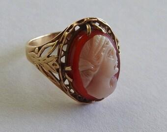 Antique 14 K Cameo Ring
