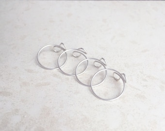 Stacking Rings, Pinky Ring, Ring Set, Thin Ring, Sterling Silver Ring, Toe Ring, Bridesmaid, Midi Ring, Knuckle Ring, Wire Ring, Simple Ring