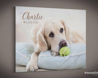 Pet Memorial, Pet Canvas, Pet Keepsake, Pet Print, Custom Pet Photo, Dog Canvas, Pet Photo, Pet Picture, Custom Canvas Print, Dog Print