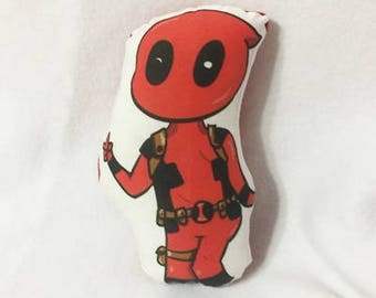 Comic character mini plush pillow