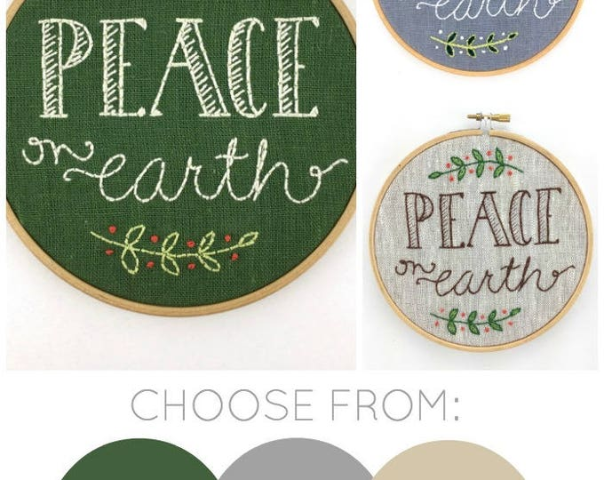 Peace On Earth Embroidery Kit