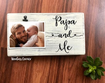 Papa gifts, Papa picture frame, Papa and me frame, Nursery frames, Custom picture frame, Personalized frame, Photo frame, Wood photo frame