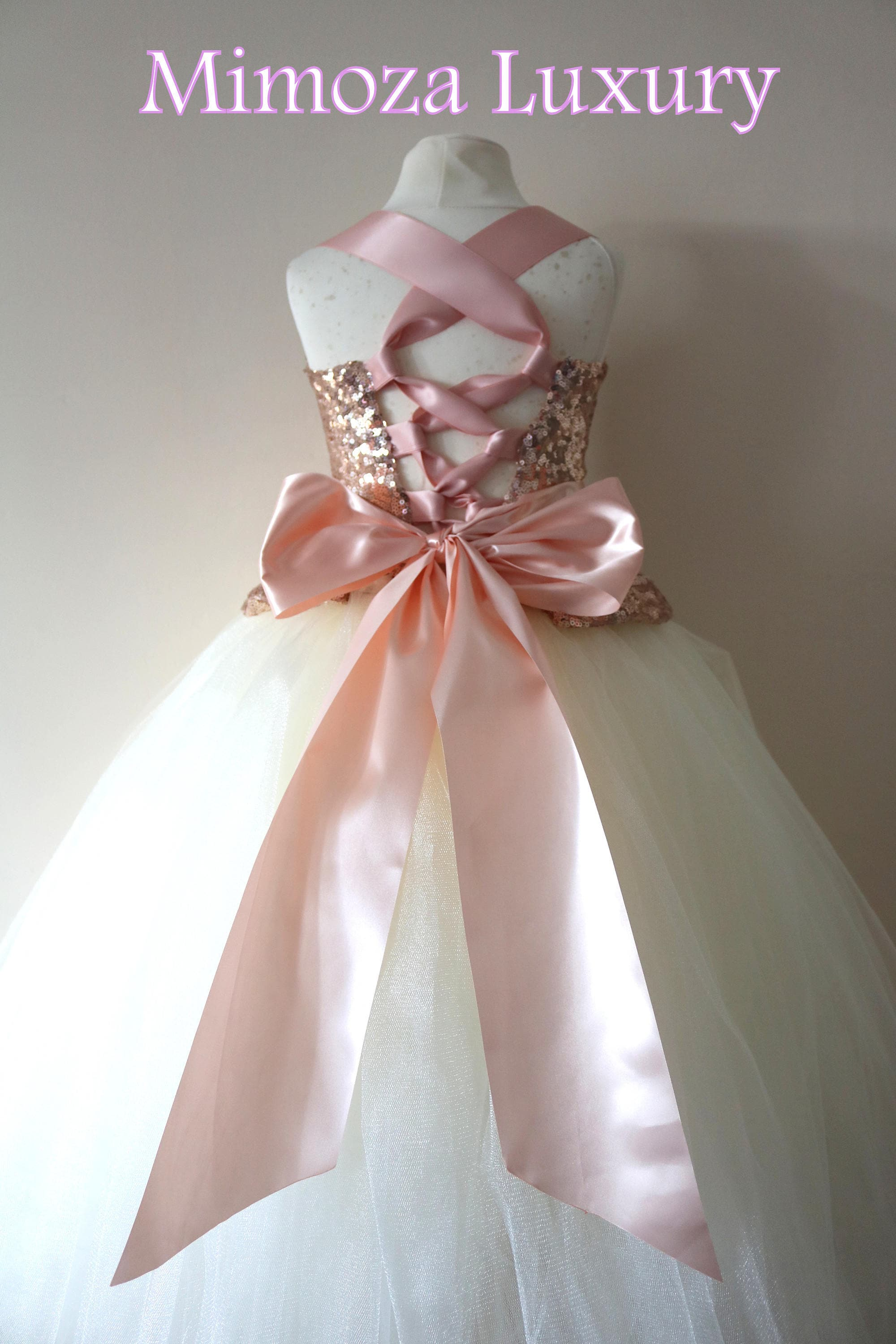 Rose gold flower girl dress rose gold bridesmaid dress couture rose gold flower girl dress rose gold bridesmaid dress couture flower girl gown bespoke girls dress tulle princess dress rose gold tutu ombrellifo Gallery