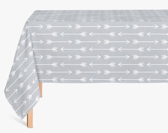 45 colors Arrows Tablecloth, Boho Chic Tablecloth, Modern Gray Tablecloth, Bohemian Chic Dining Room Tablecloth, Tribal Tablecloth