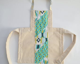 Toddler Full Apron Mint Quilted Front