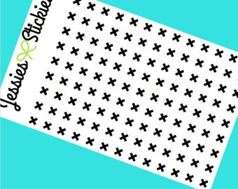 Black X-mark Stickers