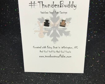"ThunderBuddy ""Teddy Bear"" Earrings"