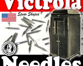 100 SIREN Spearshape phonograph NEEDLES for Vintage Victrola Gramophone 78rpm Shellac Records ETSY