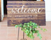 Wedding Welcome Sign - Rustic Wood Wedding Sign - Elizabeth Collection
