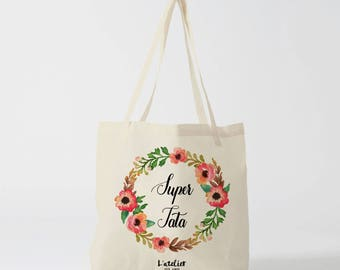 W121Y Tote bag personalized Auntie bag canvas tote bag bridesmaid, groom wedding Tote Bag, Tote, tote bag, bachelorette party
