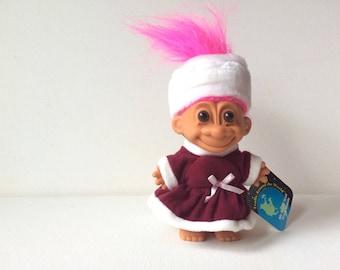 "vintage russ troll doll, 5"", russia, russian, trolls around the world, pink hair"