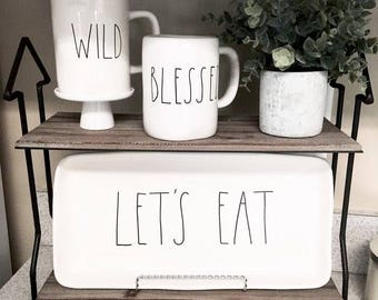 RAE DUNN Snack and Lets Eat Platters, Rae Dunn Clay Trays, Lets Eat Tray, Cheese Plates, Snack Plates, Snack Trays, Farmhouse Trays,Rae Dunn