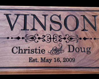 Personalized Wedding Gift Custom Carved Wooden Unique Wedding Gifts Gifts for Couple 5th Anniversary Gift Custom Wood Gift