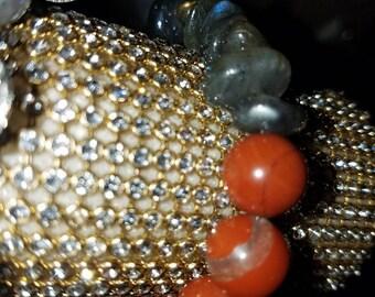Labradorite & Red Jasper Bracelet