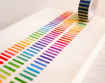 Rainbow strip washi tape
