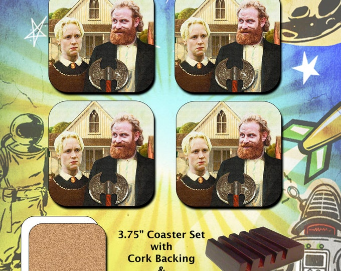 Game of Thrones / Tormund and Brienne Westeros Gothic / Coaster Set