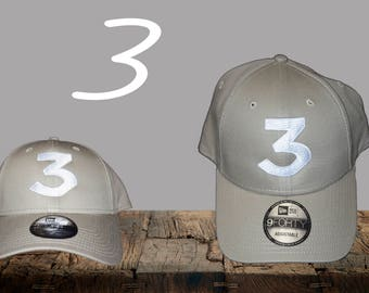 Chance  3 Hat Inspired |Khaki New Era Hat | Chance | Chance Rapper | Chance the Rapper | 3 hat | Chance 3 | Chance Dad Hat | Chance Cap