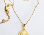 Necklace - Mary of Magdala 18K Gold Vermeil + 18 inch 18K Gold Vermeil Chain