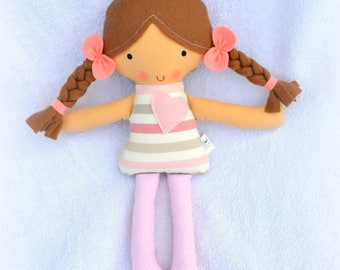 First Baby Doll, Soft Doll, Rag Doll, Softie, Cloth doll, Textile Doll, Fabric Dolls, Safe First Doll, Baby Girl Gift, Hand Made Doll, Dolls