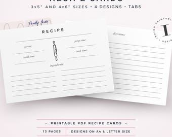 3x5 index card template