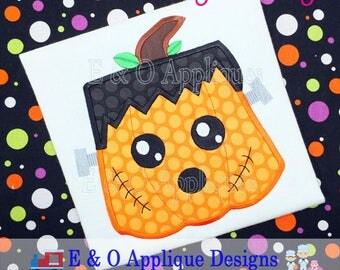 Frankenstein Applique Design - Pumpkin Applique Design - Halloween Applique Design - Halloween Embroidery Design- Kawaii Embroidery Design