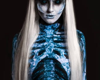 Game of Thrones Costume, White Walker Costume, Festival Clothing, Night King Costume, Skeleton Costume, Cosplay Costume, Anime Clothing