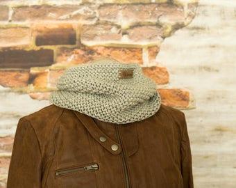 Chunky merino wool cowl, knit cowl scarf merino neck warmer, mens scarf, tube scarf, knit shawl