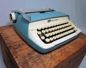 Starmist Blue Smith-Corona Galaxie Working Typewriter & Case