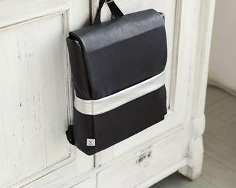 Faux Leather Backpack, Minimalistic Backpack, Black Backpack, Waterproof Backpack, Back To School Backpack,Vegan Backpack, Bicycle rucksack